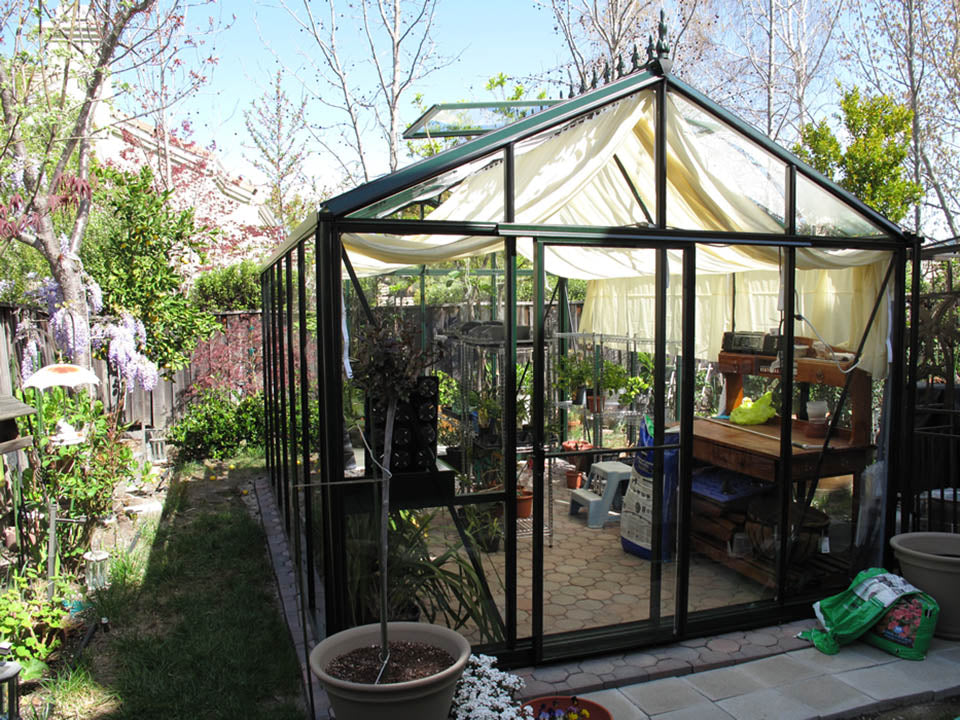 Front view of the Janssens Royal Victorian VI34 Greenhouse 10ft x 15ft
