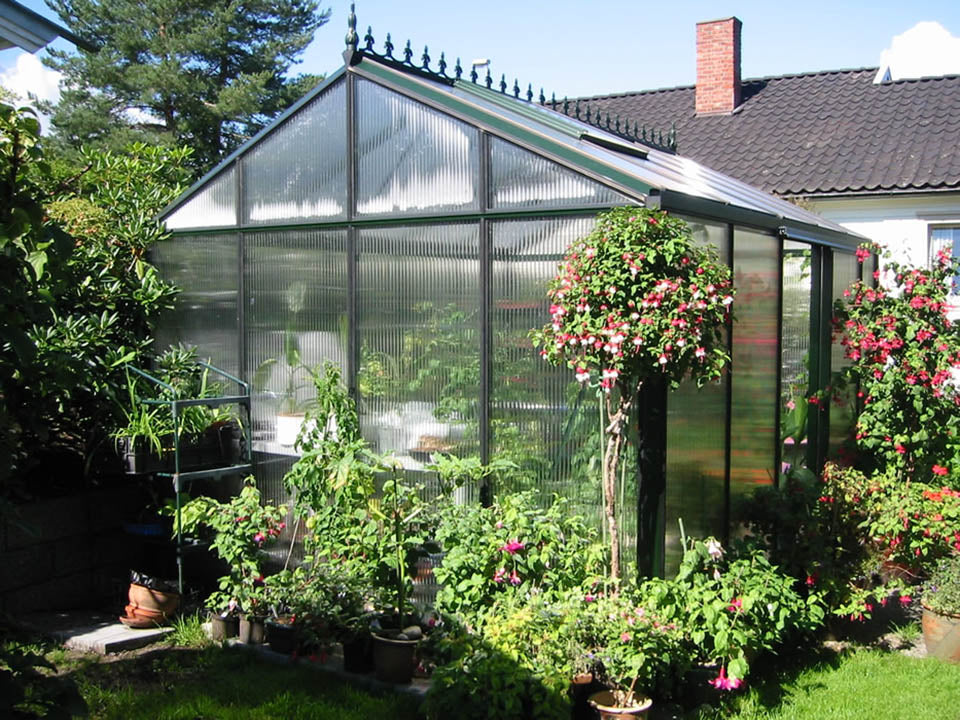 Janssens Royal Victorian VI34 Greenhouse 10ft x 15ft with polycarbonate covering
