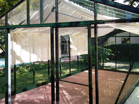 Inside view of the Janssens Royal Victorian VI46 Greenhouse 13ft x 20ft