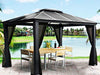 Image of Santa Monica 11x13 Hard Top Gazebo with Mosquito Netting