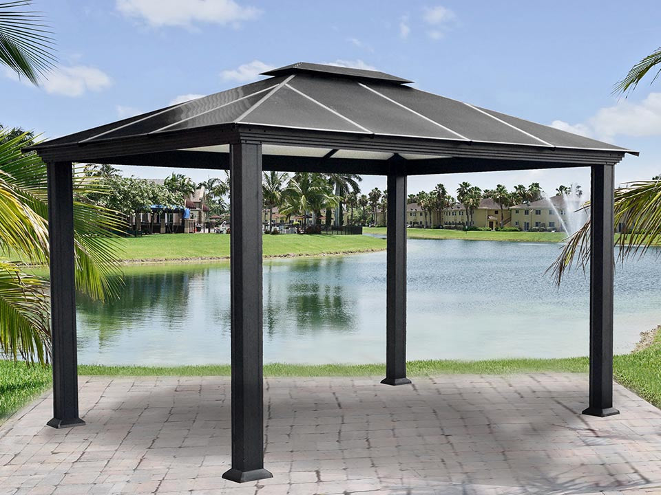 Paragon Santa Monica Hard Top Gazebo 11ft x 13ft