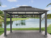 Image of Paragon Santa Monica Hard Top Gazebo 11ft x 13ft Front View