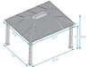 Image of Paragon Santa Monica Hard Top Gazebo 11ft x 13ft Dimensions