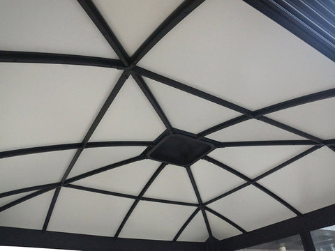 Santa Monica 11x16 Hard Top Gazebo roof interior