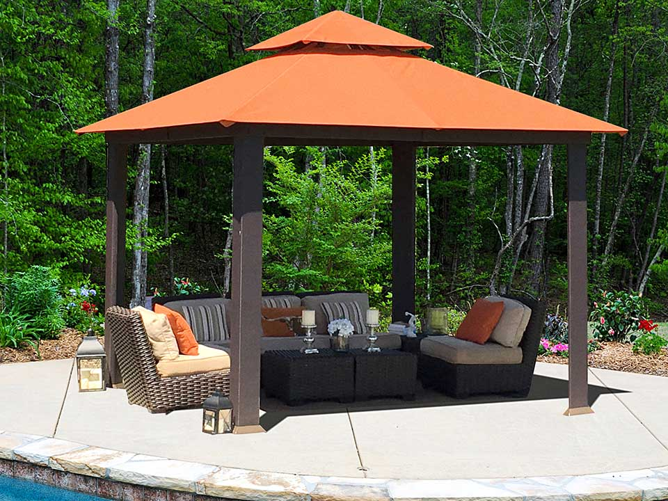Savannah Gazebo with Rust Top