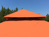 Image of Top View of Savannah Gazebo with Rust Top