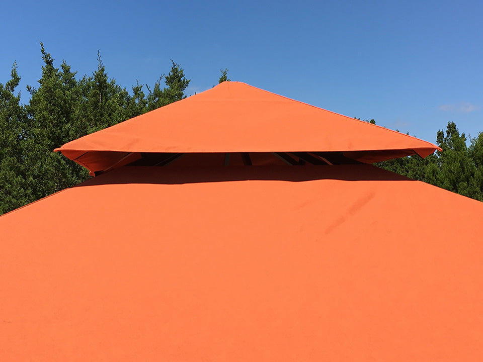 Top view of Seville Gazebo with Rust Top 12ft x 12ft