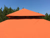 Image of Top view of Seville Gazebo with Rust Top 12ft x 12ft