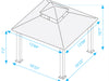 Image of Seville Gazebo with Rust Top 12ft x 12ft Dimensions