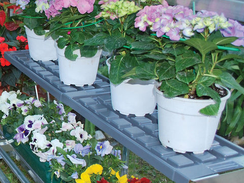 Image of Shelf Kit for the Palram Greenhouses - with plants