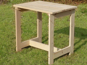 Wooden Utility Side Table Kit in a graden