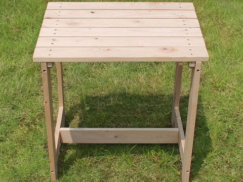 Image of Wooden Utility Side Table Kit - top view