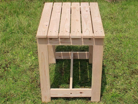 Wooden Utility Side Table Kit - side view