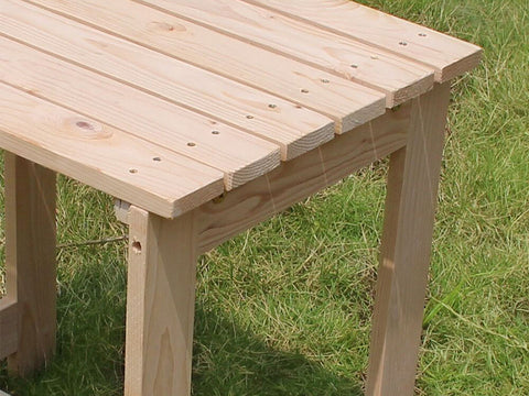 Wooden Utility Side Table Kit - corner view