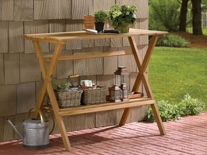 Simple Potting Bench - by the wall