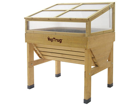 Small, natural color Cold Frame for VegTrug Planter