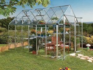 Palram 8ft x 16ft Snap & Grow Hobby Greenhouse - HG8016 - full view - in a garden
