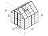 Image of Palram 8ft x 8ft Snap & Grow Hobby Greenhouse - HG8008 - framework with dimensions