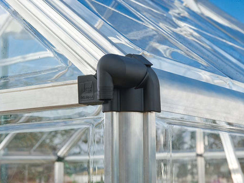 Image of Close up of the Palram 6ft x 16ft Snap & Grow Hobby Greenhouse with black edge for Palram Hobby Greenhouses