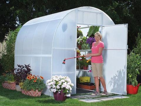 Image of Solexx 8ft x 8ft Gardener's Oasis Greenhouse G-208