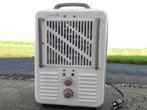 White electrical greenhouse heater