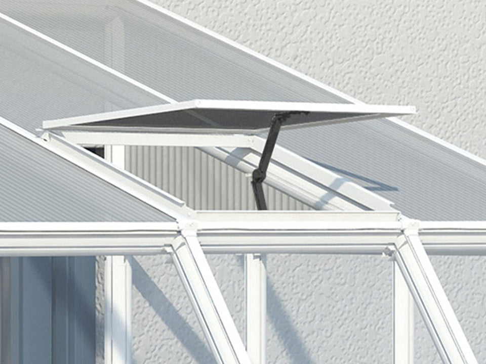 Rion 8ft x 18ft Sun Room 2 Greenhouse - HG7618 - open roof vent