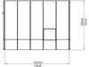 Image of Rion 8ft x 10ft Sun Room 2 Greenhouse - HG7610 - top view of framework with dimensions