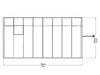Image of Rion 8ft x 16ft Sun Room 2 Greenhouse - HG7616 - top view of framework with dimensions
