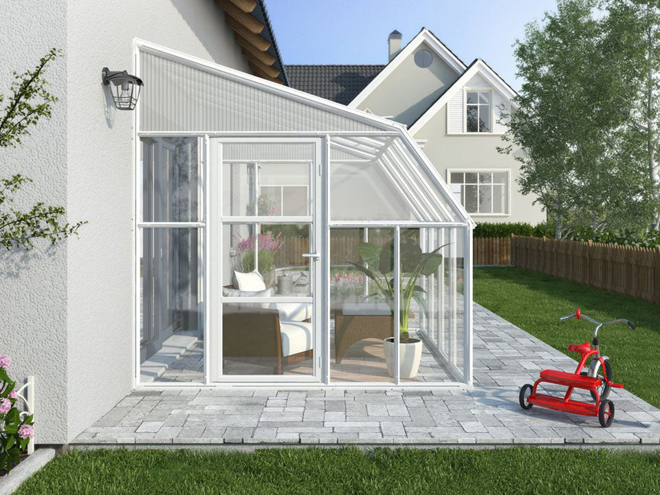 Rion 8ft x 8ft Sun Room 2 Greenhouse - HG7608 - side view