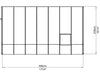 Image of Rion 8ft x 14ft Sun Room 2 Greenhouse - HG7614 - top view of framework with dimensions