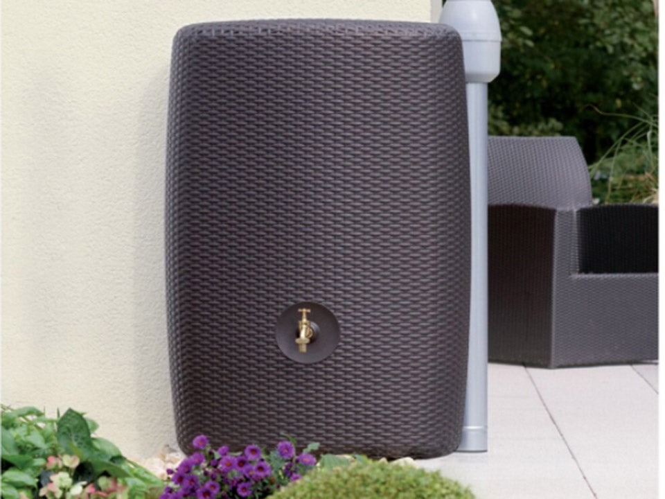 Sunda Wicker Look Rain Barrel Outdoor
