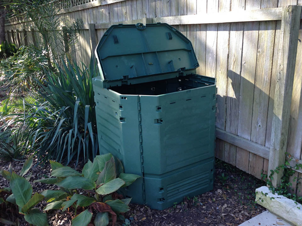 Thermo King 240 Gallon Composter Top Loading Door Open