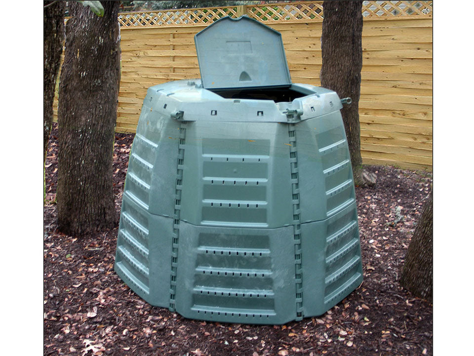 Open Top Loading Door of Thermo Star Jumbo Composter Outdoors