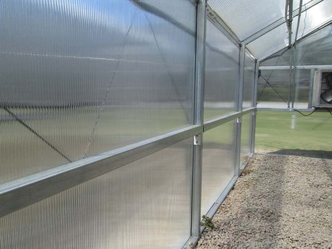 Image of Riverstone Industries (RSI) 16ft x 30ft Wallace Premium Edition Educational Greenhouse R16308-P(G) - polycarbonate panel
