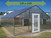 Image of Riverstone Industries (RSI) 12ft x 24ft Thoreau Premium Educational Greenhouse  R12246-P(G) - full view - green arrow on top showing dimensions