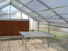 Image of Riverstone Industries (RSI) 12ft x 24ft Thoreau Premium Educational Greenhouse  R12246-P(G) - commercial workbench inside the greenhouse
