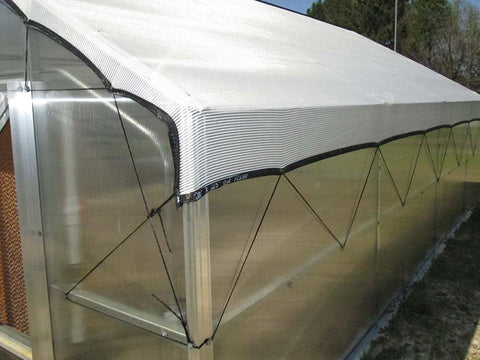 Image of Riverstone Industries (RSI) 12ft x 24ft Whitney Premium Educational Greenhouse  R12248-P(G) - shade cloth
