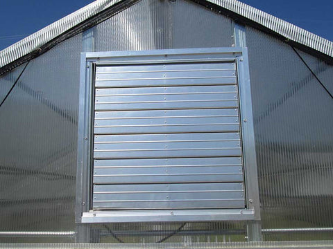 Image of Riverstone Industries (RSI) 12ft x 24ft Whitney Premium Educational Greenhouse  R12248-P(G) - closed louver window