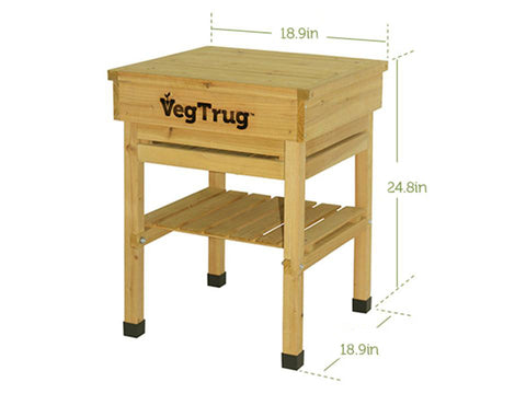 Image of VegTrug Kids Workbench - with dimensions