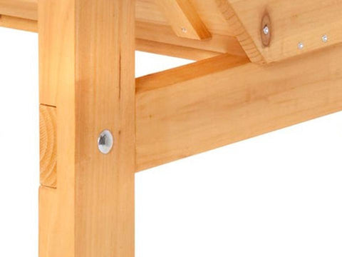 Image of Screws fastened into the wood