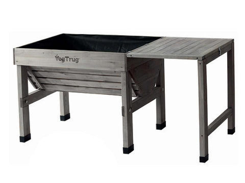 Grey VegTrug Classic with Side Table