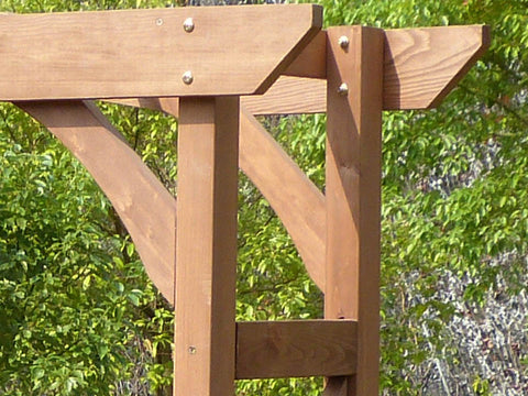 Image of Venice Garden Arbor - top side view - support brace