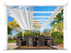 Image of Florence White Aluminum Pergola with a White Color Canopy