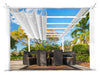 Image of Florence White Aluminum Pergola with a White Color Convertible  Canopy Top