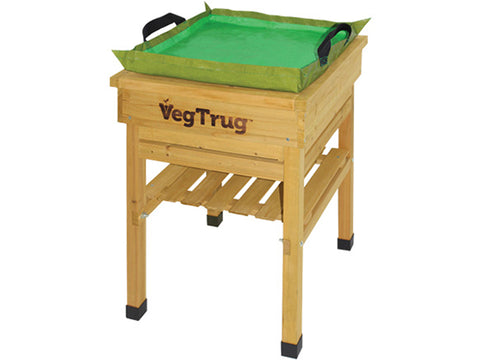 Image of VegTrug Kids Work Bench - Natural FSC 100% - Top View