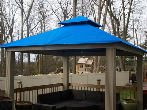 Image of Pacific Blue Acacia Gazebo with Outdura Canopy 12ft x 12ft