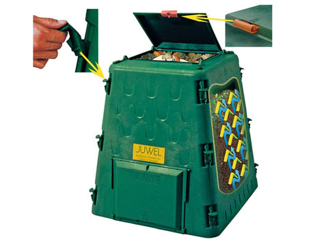 Image of Aeroquick Composter Lid and Side Latch Mechanisms