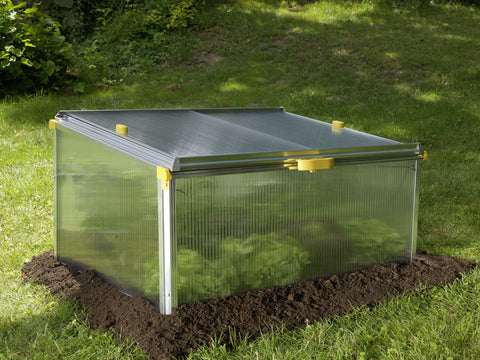 Closed BioStar 1000 Cold Frame in garden
