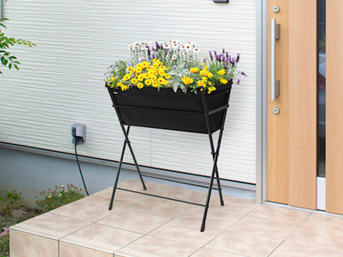 Black Poppy Go VegTrug with plants