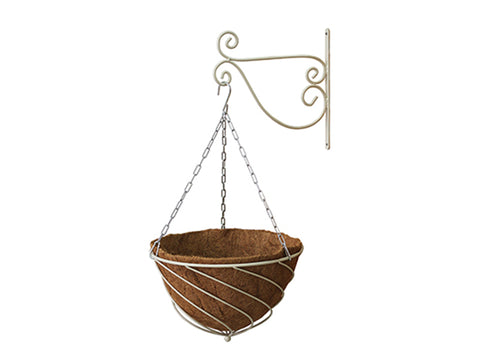 Cream Colored VegTrug Hanging Basket Planter